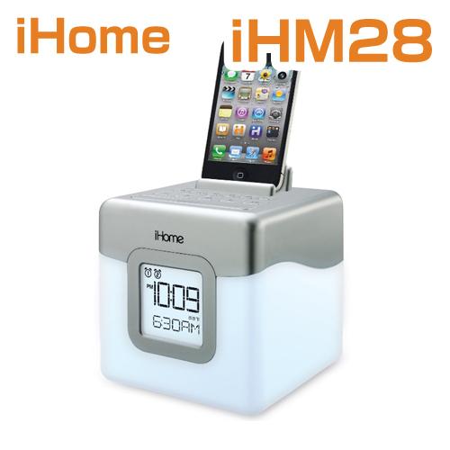 スピーカー/iHome iHM28W2 Color Changing Alarm Clock FM Radio with USB Charging アイホーム iHM28W2 カラーチェンジングラジオ 米国正規商品【smtb-tk】