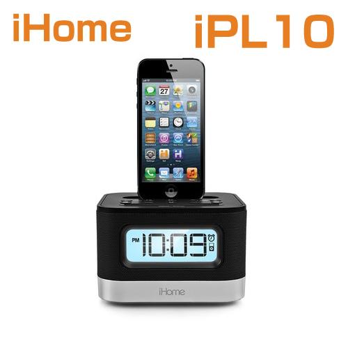 iHome iPL10 Dual Charging Stereo FM Clock Radio with Lightning Dock and USB Charge /スピーカーアイホーム iPL10米国正規商品【smtb-tk】