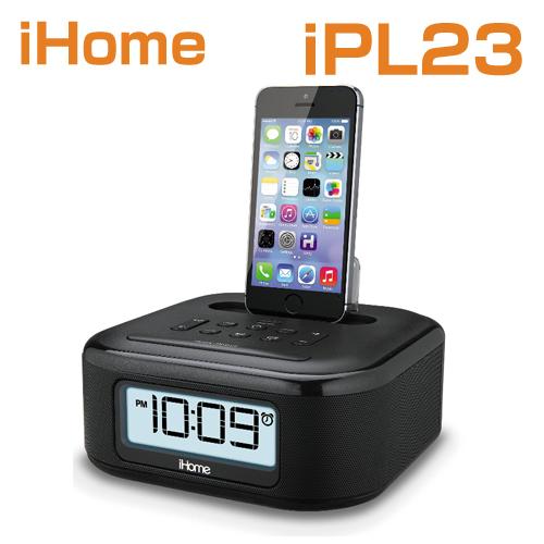 iHome iPL23 Stereo FM Clock Radio with Lightning Dock Charge /スピーカーPlay for Phone XS / XS Max / XR / X8 / 7 / 6 Plus / 6S / 6 アイホーム iPL23米国正規商品