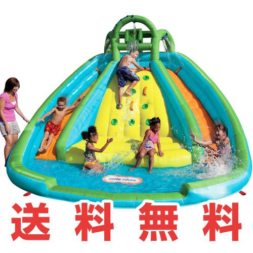 【新商品♪】リトルタイクス ロッキーマウンテン リバーレース スライドバウンサーLittle Tikes Rocky Mountain River Race Infatable Slide Bouncer屋外用 子供用プール2個のすべり台付大型プール おもちゃ・玩具【smtb-tk】