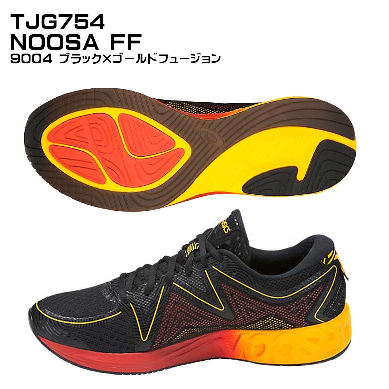 【即納】TJG754 NOOSA FF 9004-ブラック×ゴールドフュージョン ヌーサ ランニングシューズ FAST ランニング マラソン【送料無料】【SMTB-K】