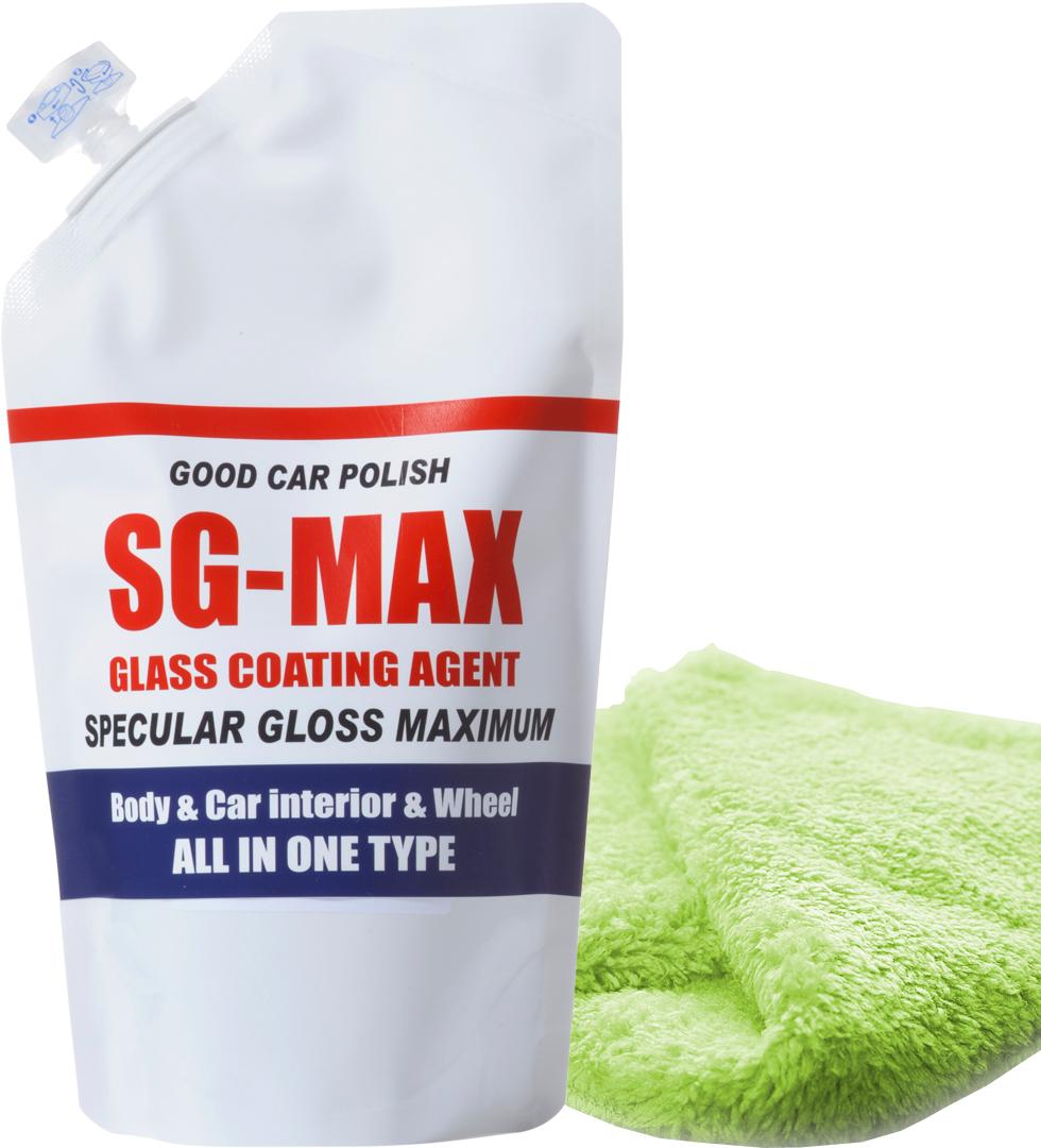 ガラスコーティング コーティング剤 メンテナンス剤 ワックス 洗車 ガラスコーティング剤 入手困難 自転車 バイク リピートセット 予約販売 カーボン レビューを書いて20パーセント増量 クロモリ 全国送料無料 詰め替え用SG-MAX+専用クロス アルミ ロードバイク