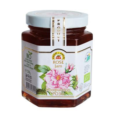 希少なEUビオ認証ダマスクローズのみを使用し、花びらを1枚1枚丁寧に取り入れ作られる芳香豊かなジャム。癒しの芳香を楽しめます。健康・美・若さの象徴!ローズジャム(バラジャム)230g【10P01Oct16】【RCP】