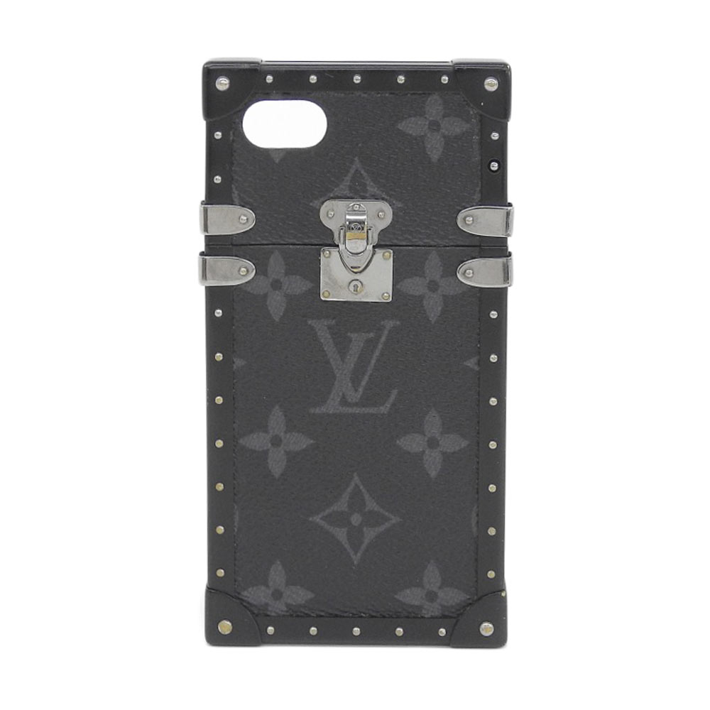 【本物保証】 ルイヴィトン LOUIS VUITTON モノグラム エクリプス アイ トランク スマホケース iPhone7用 M64489 【中古】