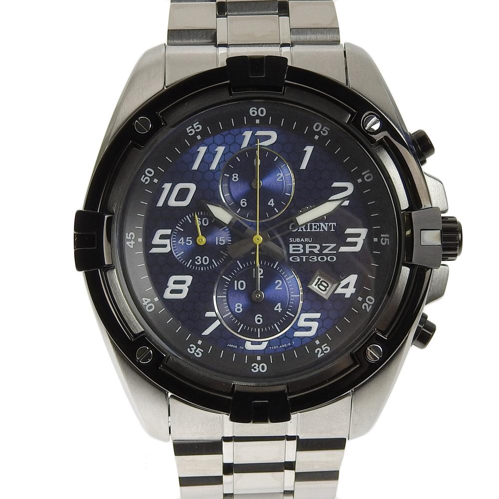 【本物保証】 未使用 オリエント ORIENT スバル SUBARU BRZ GT300 2014年限定 メンズ クォーツ 腕時計 WV0331TT 【中古】