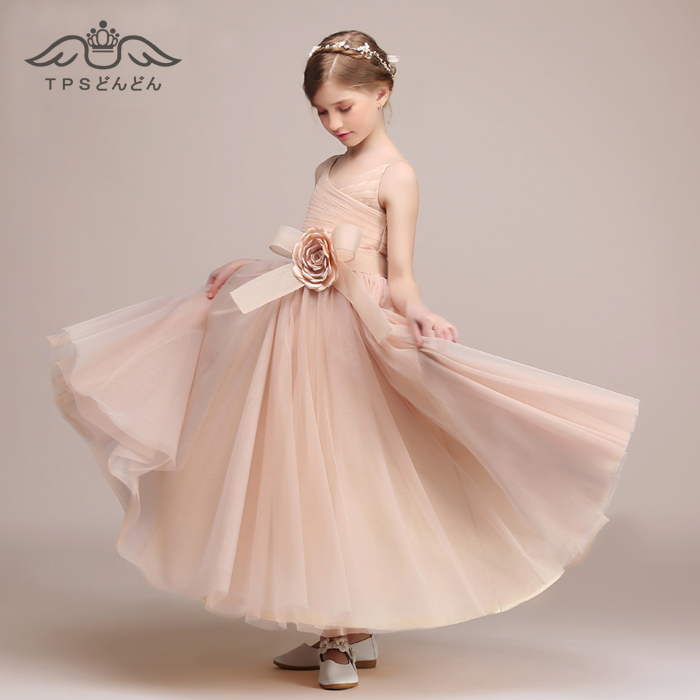 637f002d0cfa9 楽天市場  エントリーでポイント10倍 子供ドレス ロングドレス ピアノ ...