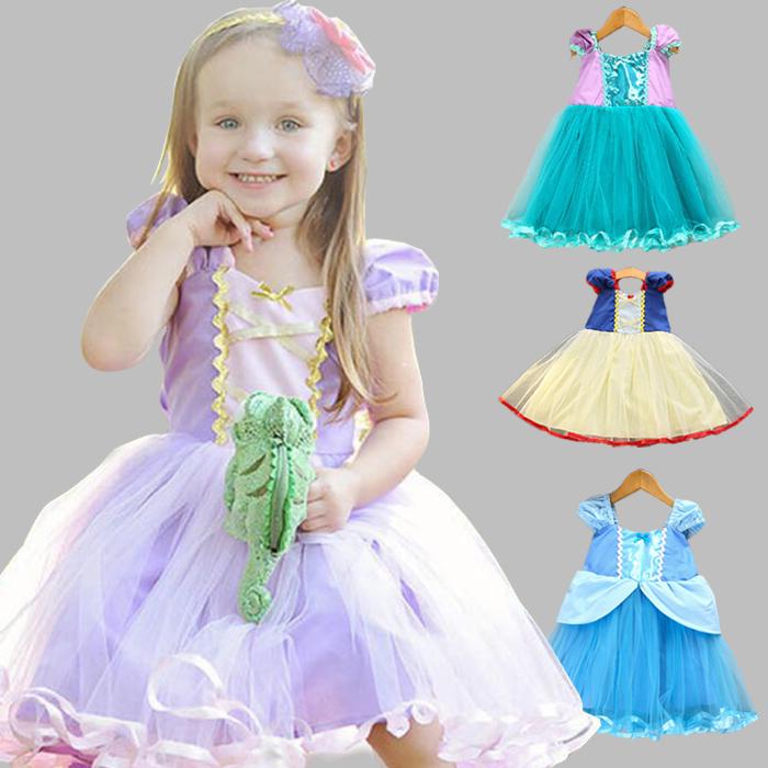 3e4a1712637e2  送料無料 プリンセスドレス子供白雪姫ラプンツェルドレスアリエルシンデレラアリスコスチューム子供ドレス