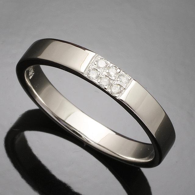 【送料無料】ダイヤモンドリング指輪18金ホワイトゴールド「4R0268W」 *