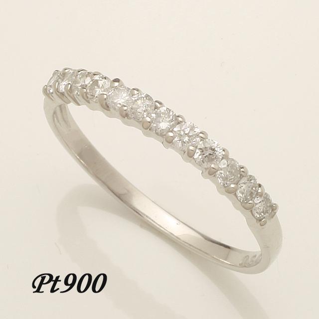 ハーフエタニティ エタニティ エタニティリング ダイヤモンド リング 指輪 pt900 レディースファッション 重ねづけ 【送料無料】【品質保証書付】「4R0218P」 *