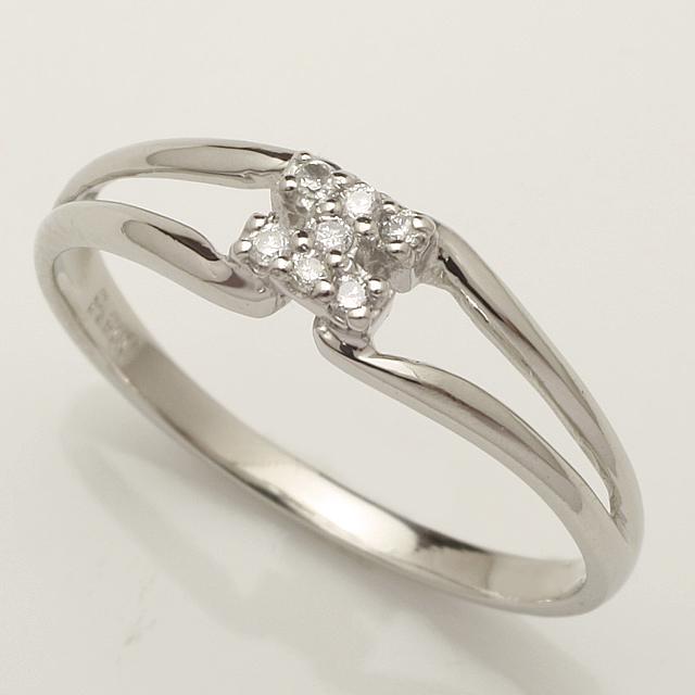 【送料無料】ダイヤモンドリング指輪18金ホワイトゴールド「4R0248W」 *