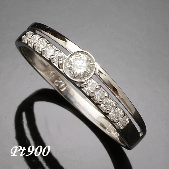 11石 ダイヤモンド リング Pt900 プラチナ900 指輪「4R0258P」【送料無料】 *