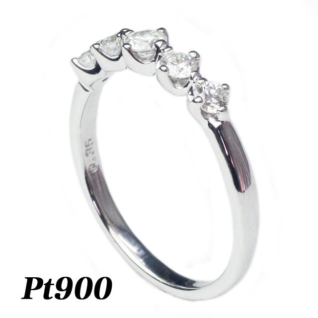 【送料無料】 五つの輝き ファイブスター リング プラチナ ダイヤリング 指輪  Pt900「4R0380P」 *