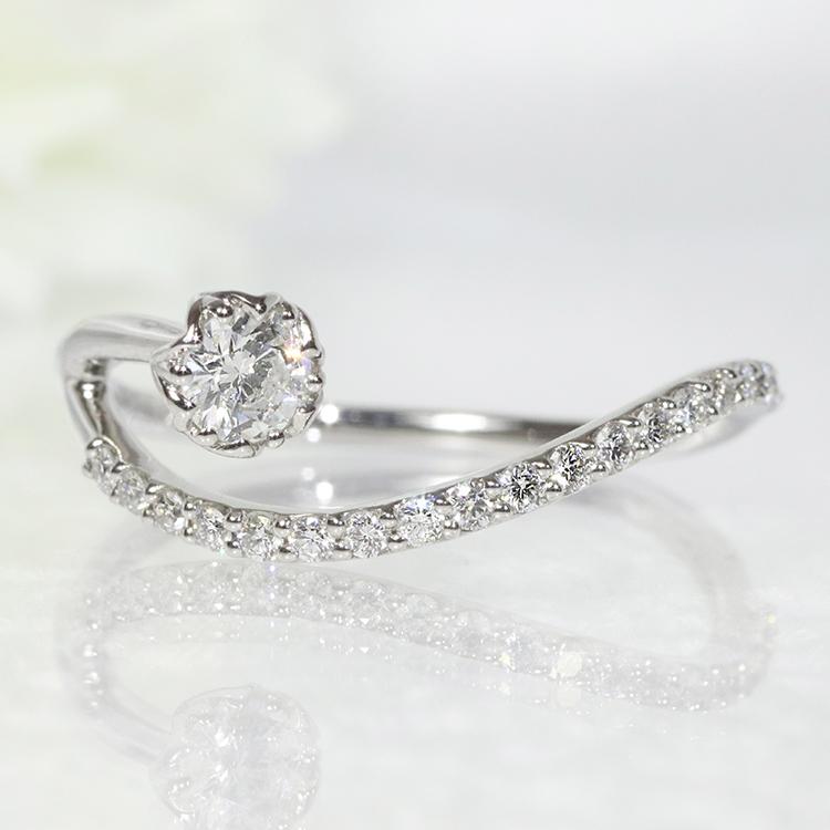 Pt900・ダイヤモンド・ダイアモンド・ファッション・ジュエリー・アクセサリー・レディース・指輪・リング・プラチナ・0.15ct・0.20ct・送料無料・品質保証書・プレゼント・小指・重ね着け