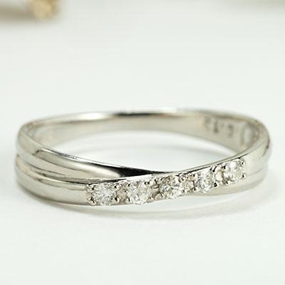ダイヤモンド リング ダイヤ リング クロス エタニティ 重ねづけ プレゼント ピンキー 送料無料 品質保証書 レディースファッション *