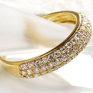 ファッション・ジュエリー・アクセサリー・レディース・指輪・リング・K18・ホワイトゴールド・イエローゴールド・ダイヤモンド・ダイアモンド・ダイヤ・ダイア・パヴェ・pave・送料無料・品質保証書・プレゼント・4月誕生石・ダイヤモンドリング *