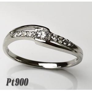 一粒ダイヤ・ファッション・ジュエリー・アクセサリー・レディース・指輪・リング・プラチナ・Pt900・ダイヤ・ダイア・ダイヤモンド・ダイアモンド・レディース 重ねづけ・プレゼント・ピンキー・送料無料・品質保証書・4月・誕生石 *