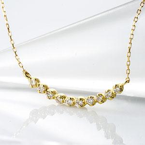 ファッション・ジュエリー・アクセサリー・レディース・ネックレス・ペンダント・ゴールド・ホワイトゴールド・イエローゴールド・ピンクゴールド・ダイヤモンド・ダイア・0.1カラット・10粒・10年・メモリアル・K18・4月誕生石・送料無料・品質保証書・プレゼント *