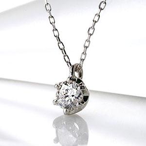 一粒ダイヤ ファッション・ジュエリー・アクセサリー・レディース・ネックレス・ペンダント・ゴールド・ホワイトゴールド・イエローゴールド・ダイヤモンド・ダイヤ・一粒・ひと粒・プチ・4月誕生石・送料無料・品質保証書・プレゼント *