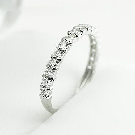 ハーフエタニティ エタニティ エタニティリング ダイヤモンド リング K18WG 0.5ct レディースファッション 重ねづけ 【送料無料】【品質保証書付】「4R0220W」 *