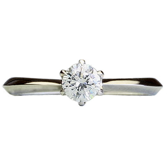 1.00tダイヤモンド用ブライダルリング【婚約指輪】別途ダイヤモンドをお選び下さい(18金ホワイトゴールド)012246a_100_wg