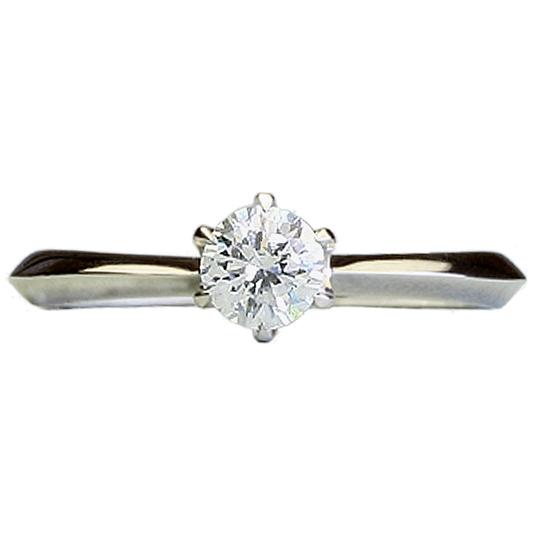 0.5ctダイヤモンド用ブライダルリング【婚約指輪】別途ダイヤモンドをお選び下さい(18金ホワイトゴールド)012246a_50_wg