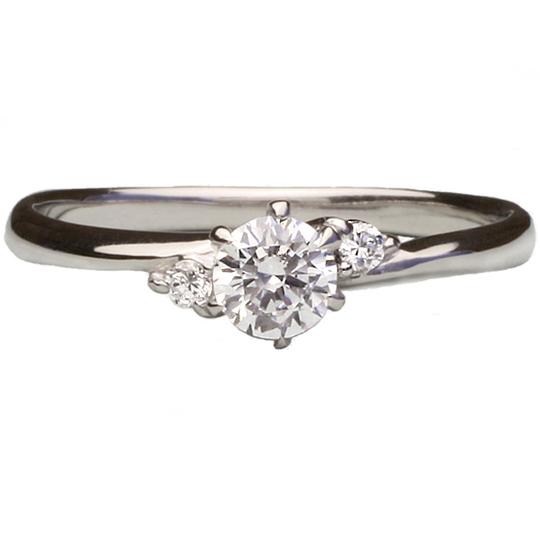0.7ctダイヤモンド用ブライダルリング【婚約指輪】別途ダイヤモンドをお選び下さい(18金ホワイトゴールド)012260b_70_wg