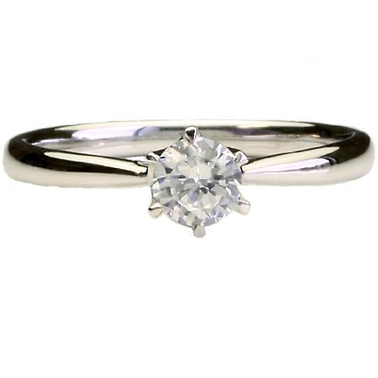 0.5ctダイヤモンド用ブライダルリング【婚約指輪】別途ダイヤモンドをお選び下さい(18金ホワイトゴールド)012268a_50_wg