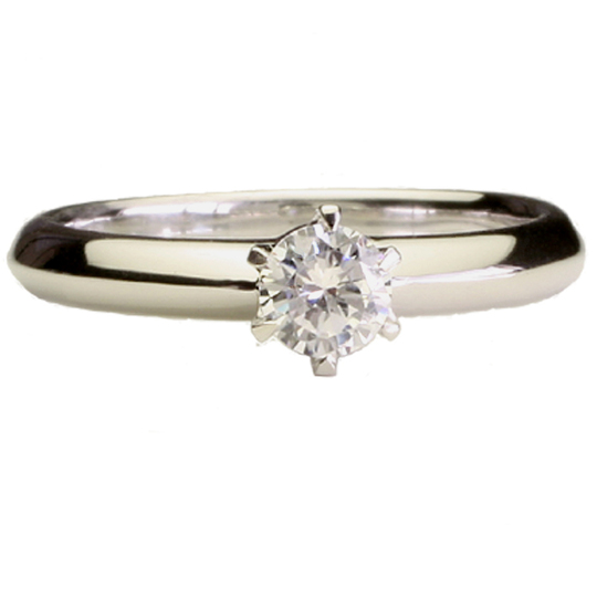 0.5ctダイヤモンド用ブライダルリング【婚約指輪】別途ダイヤモンドをお選び下さい(18金ホワイトゴールド)012302a_50_wg