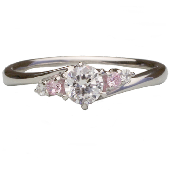 0.3ctダイヤモンド用ブライダルリング【婚約指輪】別途ダイヤモンドをお選び下さい(プラチナ900)012342b_30_pt