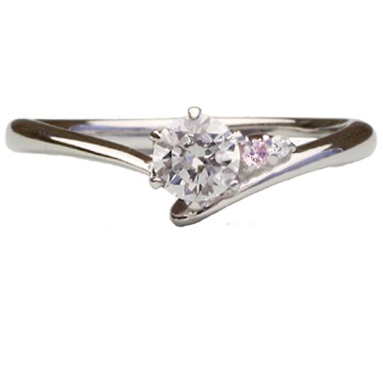 0.5ctダイヤモンド用ブライダルリング【婚約指輪】別途ダイヤモンドをお選び下さい(18金ホワイトゴールド)012400b_50_wg