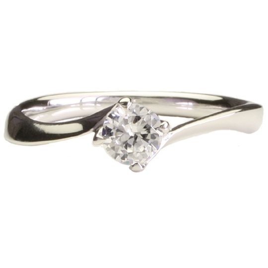 0.3ctダイヤモンド用ブライダルリング【婚約指輪】別途ダイヤモンドをお選び下さい(18金ホワイトゴールド)012436a_30_wg
