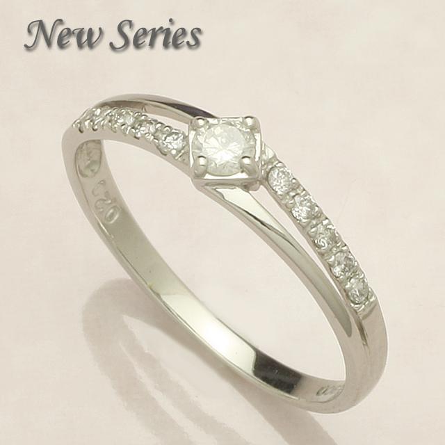 【送料無料】 K10WG 0.2ct ダイヤモンド リング 「4R0136W_10k」05P01Feb14 *