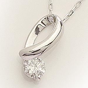「あす楽対応」0.1ct 1粒 ダイヤモンド ペンダント ネックレス K18WG 18金ホワイトゴールド「4P0008」【送料無料】 *