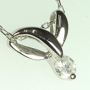 「あす楽対応」 1粒 ダイヤモンド ペンダント ネックレス K18WG 18金ホワイトゴールド「4P0110W」【送料無料】 *