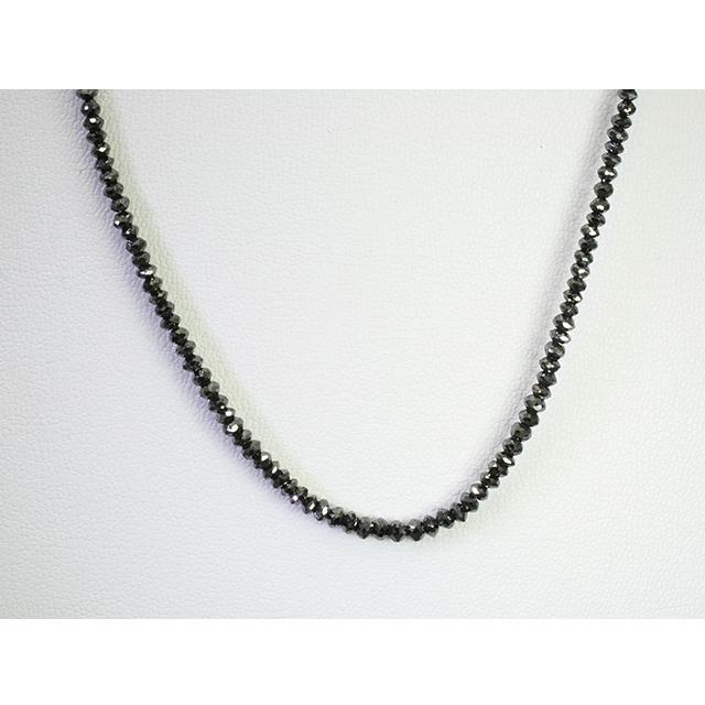 20ct ブラックダイヤモンド ネックレス K18WG 18金ホワイトゴールド メンズ 男性 レディース 「4p0186-3」【送料無料】 *