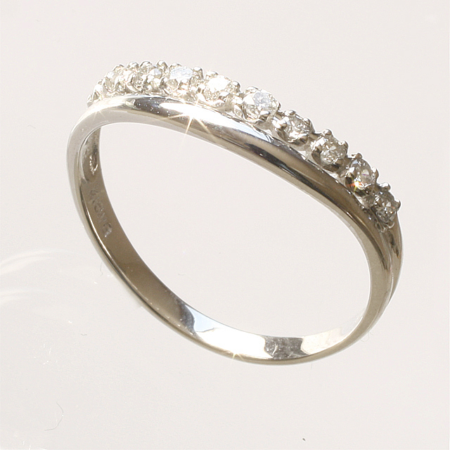 アニバーサリーテンダイヤモンドダイヤモンド リング K18WG 「4R0078W」【送料無料】 *