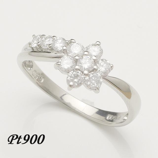 【送料無料】アニバーサリーテンダイヤモンドプラチナダイヤリングダイヤモンドリング指輪「4R0046P」 *