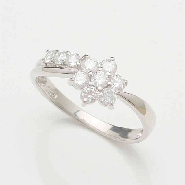【送料無料】ダイヤリングホワイトゴールドダイヤモンドリング指輪K18WG「4R0046W」 *