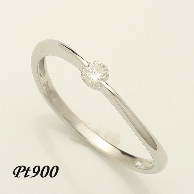 【送料無料】 1粒 ダイヤリング プラチナ 「4R0162P」 *