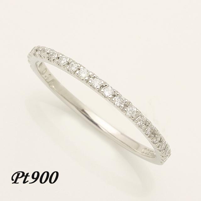 ハーフエタニティ エタニティ リング ダイヤモンドリング 指輪 pt900 送料無料 品質保証書 レディース ファッション「4R0174P」 *