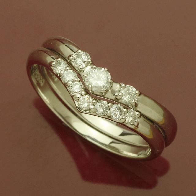 【送料無料】2本セットダイヤモンドリングホワイト「4R0180Wset」 *