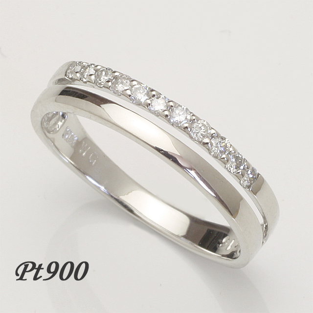 【送料無料】ダイヤモンドリングプラチナダイヤリング指輪pt900「4R0206P」 *