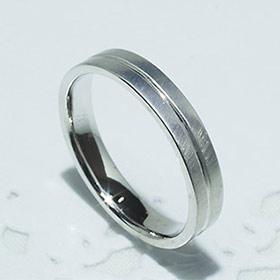 結婚指輪 マリッジリング ペアリング 男性用 K18WG [5202-M WG-P]【送料無料】