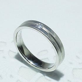 結婚指輪 マリッジリング ペアリング 女性用 K18WG ダイヤモンド 0.03ct [5202-L WG-P]【送料無料】