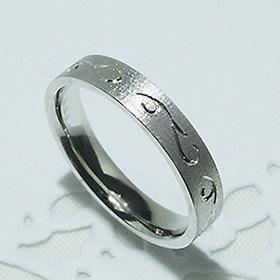 結婚指輪 マリッジリング ペアリング 男性用 女性用 K18WG 「5204-L WG-P」【送料無料】