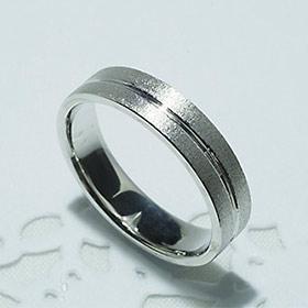 結婚指輪 マリッジリング ペアリング 男性用 K18WG 「5206-M WG-P」【送料無料】