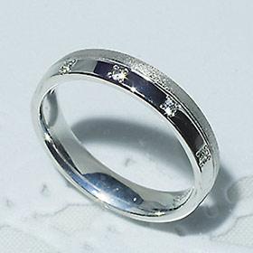 結婚指輪 マリッジリング ペアリング 女性用  ダイヤモンド 0.05ct K18WG「5208-L WG-P」【送料無料】