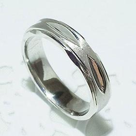 結婚指輪 マリッジリング ペアリング 男性用 K18WG 「5216-M WG-P」【送料無料】