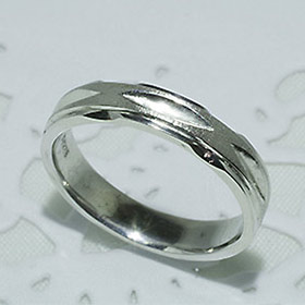 結婚指輪 マリッジリング ペアリング 女性用 K18WG「5216-L WG-P」【送料無料】
