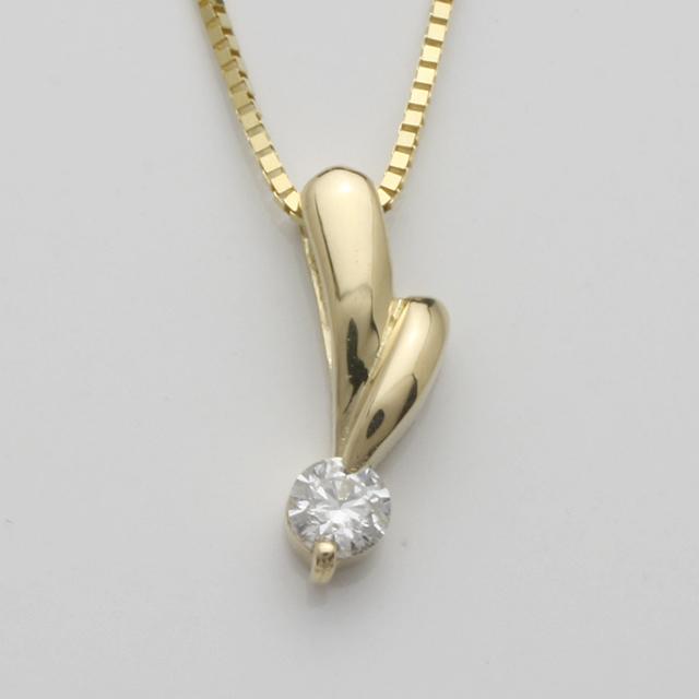 「あす楽対応」1粒 ダイヤモンド ペンダント ネックレス K18 18金 ゴールド「4P0112」【送料無料】 *